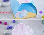 Mermaid Favor Box, Shell,...