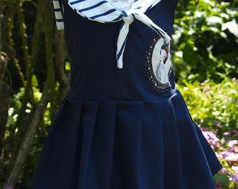 Summer girl dress model Sailor Betty