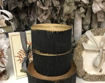 Crepe Paper Roll Party Decor Vintage Stock Halloween Easter Wedding Christmas Black Charcoal Gold Gilt Marie Antoinette (Small Roll)