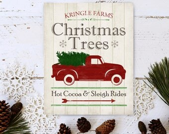 Christmas Print - Christmas Decoration - Christmas Tree Farm - Farmhouse Christmas - Christmas Sign - Christmas Wall Art - Holiday Sign -