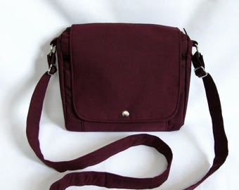 Small messenger- Mulberry cotton