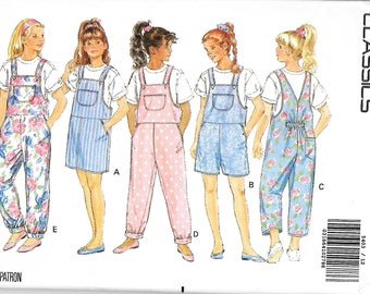 Butterick 5403 Girls Jumper, Jumpsuit And Top Sewing Pattern, Size 12-14,  UNCUT
