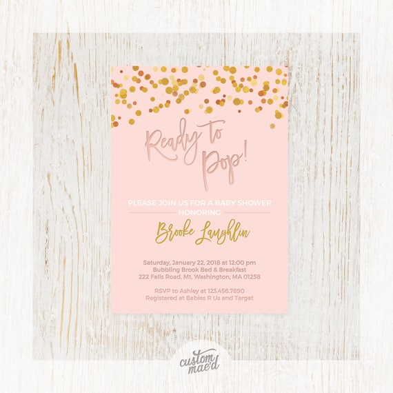 Ready to pop baby shower baby shower invitation baby sprinkle il570xn filmwisefo Images