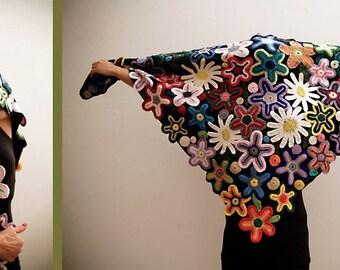 Fiori BBbZ - Handmade crocheted flowers shawl