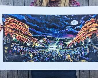 Moonlit Concert at Red Rocks Amphitheater