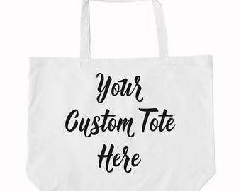 Custom Tote, Personalized Tote, Tote Bag, Bridal Shower, Weekend Bag, Beach Towel Bag, Cotton Totes, Wedding Tote, Cute Gift, Gift for Her