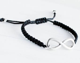 Adjustable infinity bracelet for women. first Valentine gift for girlfriend. gifts for girlfriend, Best friends gift,
