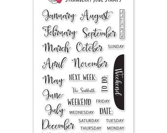 Don't Forget Calendar: Monthly planner stamp set