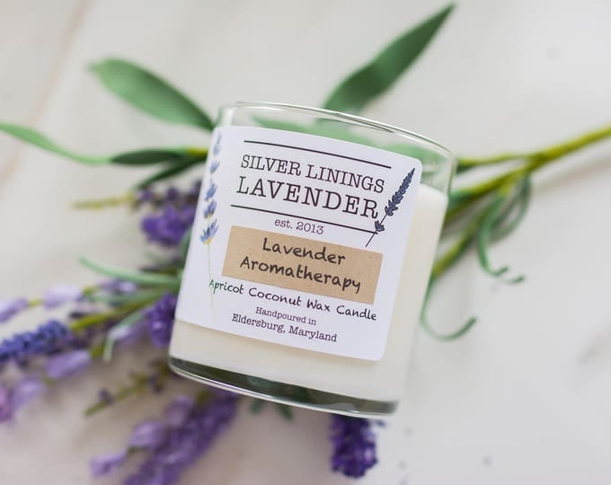 Pure Lavender Essential Oil Candles