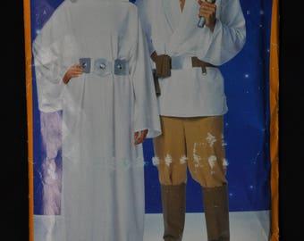 Princess Leia and Luke Skywalker Costume Pattern - UNCUT - Misses'/Men's All Sizes - Butterick 5174