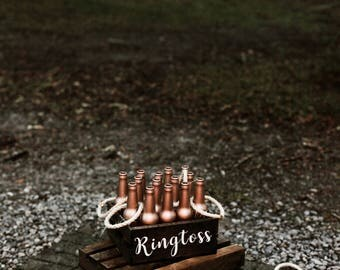 Ring Toss Ringtoss Personalized Customized Rose Gold Wedding Over sized Big Outdoor Wedding Yard Lawn Game! Fun Lawn or Outdoor Wedding Game