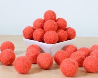 Felt Balls: CORAL, Felted Balls, DIY Garland Kit, Wool Felt Balls, Felt Pom Pom, Handmade Felt Balls, Pink Felt Balls, Pink Pom Poms