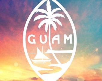 Guam Car Decal Etsy - Custom vinyl decals etsy
