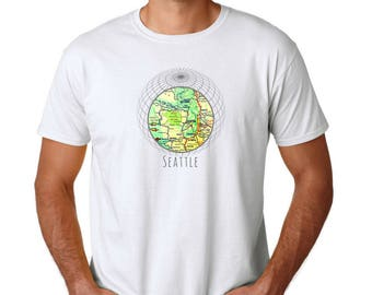 Seattle T Shirt, Outdoors Gift, Seattle Gifts, Travel Gift, Stocking Stuffer Men clothing Gifts for Men, Unisex T Shirt Pacific Northwest