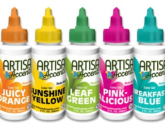 Artisan Accents gel food color system, full set of 11 colors