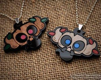 Phantump Pokemon XY Acrylic and Wood Necklace Pendant