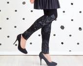 Black and White Fairytale - leggings