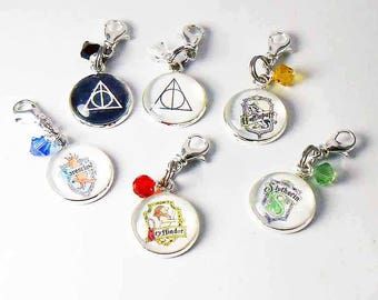 Harry Potter Inspired Charms, Purse Charm, Key Chain Charms, Harry Potter Party, Party Favors