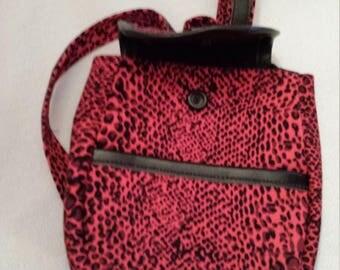 """Hot Pink Leopard print backpack for 18"""" Dolls"""