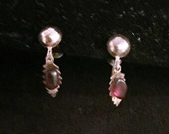 Vintage Garnet Screw-back earrings