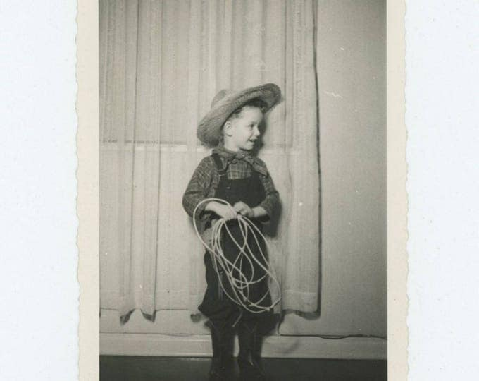 Vintage Snapshot Photo: Young Cowboy, 1942 (78601)