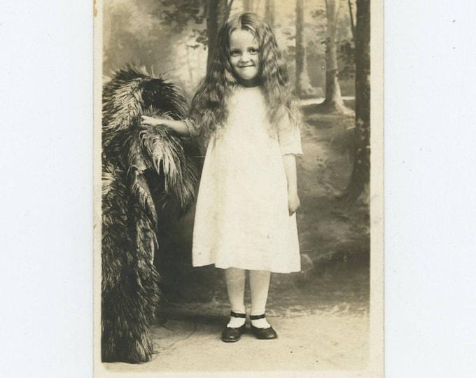 Vintage Photo Portrait RPPC: Agnes, c1910s [81638]