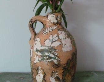 Collectable Victorian Memory Tramp Art Ceramic Jug