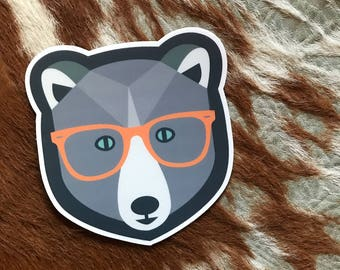 Hipster Bear | Vinyl Sticker Design