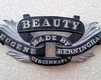 BEAUTY Eugene Berninghaus Barber Shop Chair Name Plate