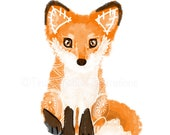 Fox, nursery art, fox art, fox illustration, #fortheloveofanimals