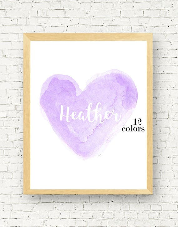 Girls Lavender Print Personalized, 11x14