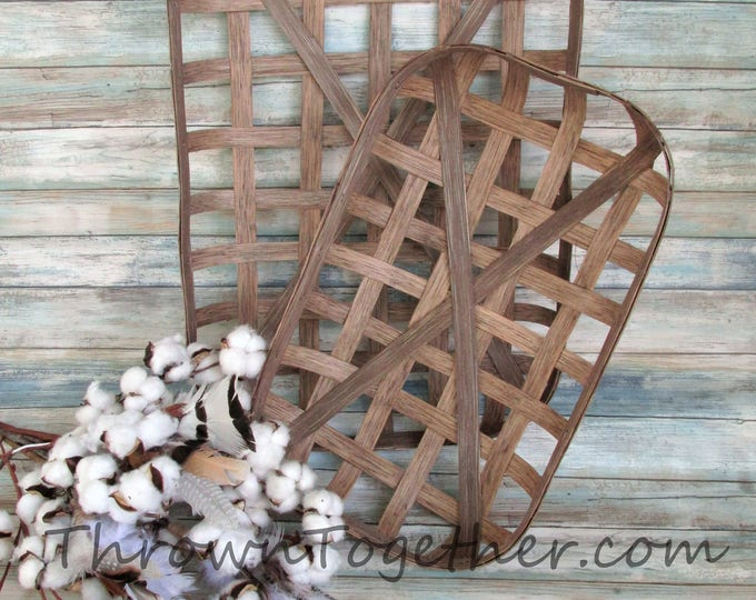Tobacco Baskets, Farmhouse Baskets, Handmade Tobacco Baskets, Gallery Wall Basket, Rustic Home Decor, Decorative Basket Set