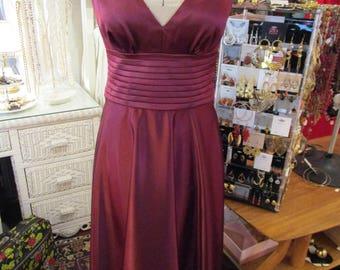 1990s JS Boutique Burgundy Dress