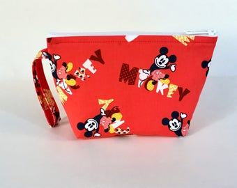 Red Mickey Make Up Bag - Accessory - Cosmetic Bag