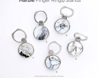 iPhone Ring Stand Marble Ring Stand Samsung S8 Ring Holder iPhone Ring Case Personalized Ring Grip iPhone Ring Case Monogram Finger Ring 12.