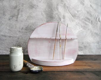 Vintage Spoon Rack (re)Designed in Cherry Blossom Pink