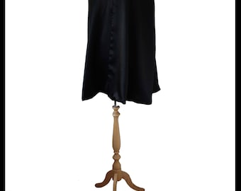 Quality Black Shimmer Satin Short Cloak/ Cape lined with Purple Shimmer Satin. LARP Medieval Evening Gothic Alternative. Immediate Dispatch!
