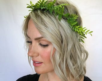 The Fern - Greenery Minimalist Crown Halo Head Wreath