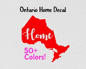 Ontario Home Province Home Decal Car Decal Home Car Decals For Women Window Sticker Canada Car Decal Self Adhesive Vinyl Proud Decals