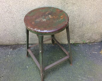Vintage Industrial Stool Machine Shop Stool - Green Rustic Adjustable Stool & Industrial stool | Etsy islam-shia.org