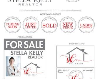 Premade Real Estate Logo, Realtor Logo Design, House Logo, Real Estate Business Card, Real Estate For Sale Sign, Branding Logo, Sold Sign