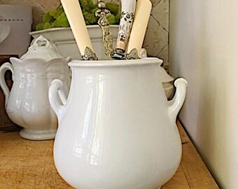 Antique English White Ironstone Sugar Bowl, TR Bootes,  Senate, Ironstone without Lid, Antique Ironstone Sugar, Registation 1870