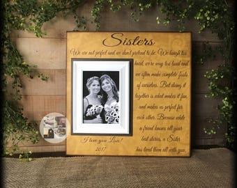 Birthday Sister Gift | Birthday Gifts for Sister | Best Gifts for Sister Birthday | Large Customized Picture Frame | Sister Keepsake Gift