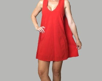 New Years Eve Red Cape Mini Dress/ Red Christmas Dress/ Red Party Dress/ Red Prom Dress/ Red Formal Dress/ Red Cape/Red Mini Dress/ Shift