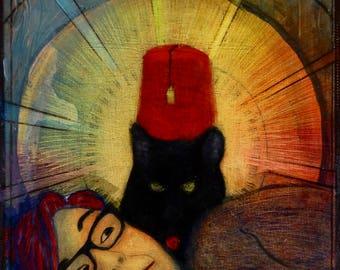 Fez Hat Cat