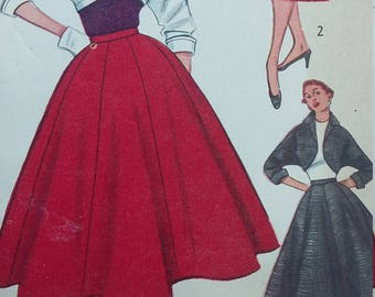 Vintage Simplicity 3773 Sewing Pattern Skirt and Bolero Size 12