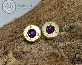 9mm Recycled Bullet Casing Earrings