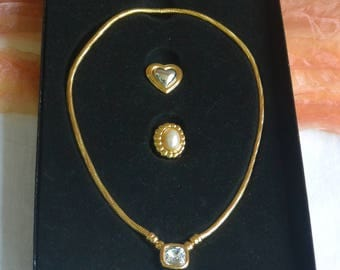 Joan Rivers Jewelry - Classic Collection, Rope Necklace, 3 Pendants, Boxed - Vintage - Fabulous!