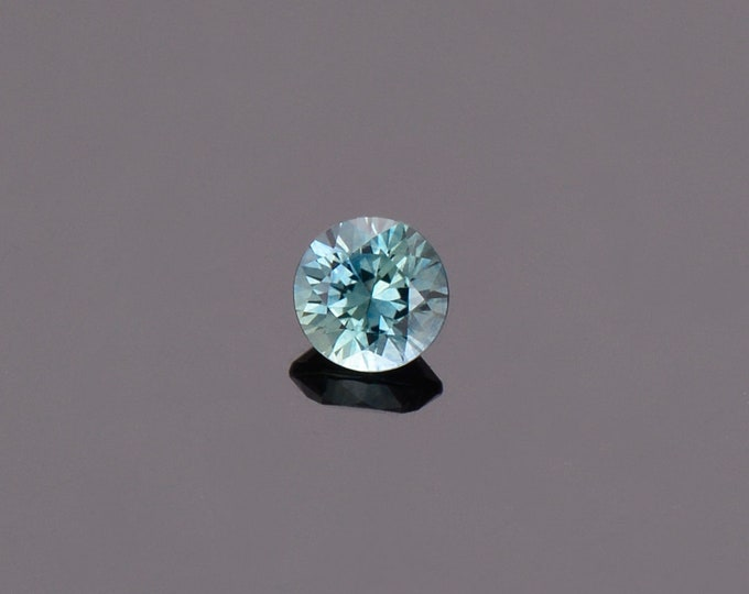 SALE EVENT! Bright Blue Green Sapphire Gemstone from Montana, Round, 0.57 cts., 4.8 mm.