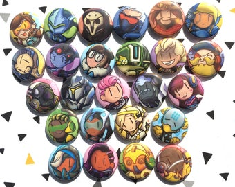 Pin button set Overwatch Heroes